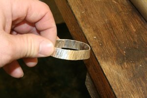textured bangle almost finished