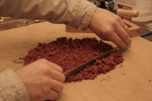 finely chopped delft clay